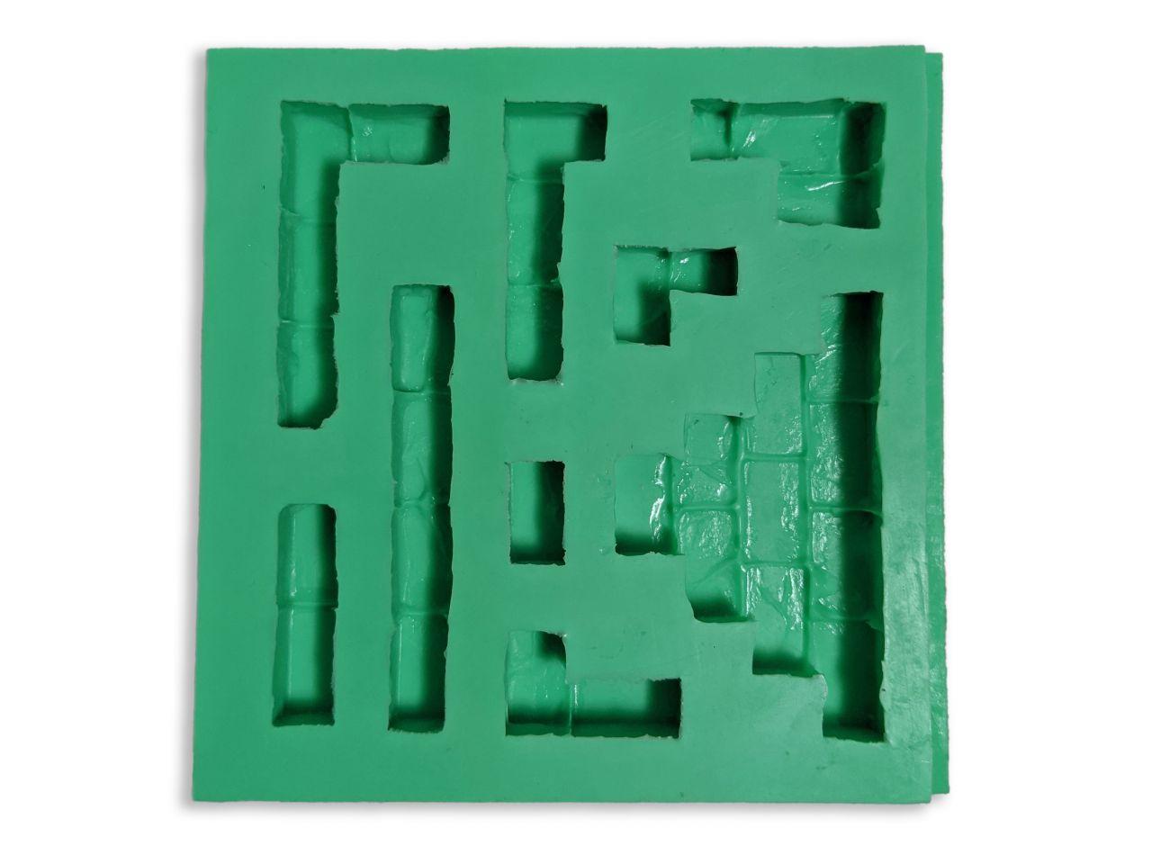 Giessform Silikonform Module Bausteine für den Krippenbau Set 4