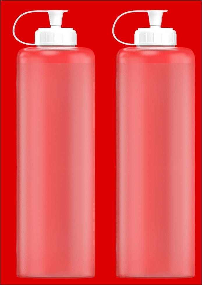 Leerflasche rund LDPE 20 x 500ml 32mm Gewinde Kappe und Halteband