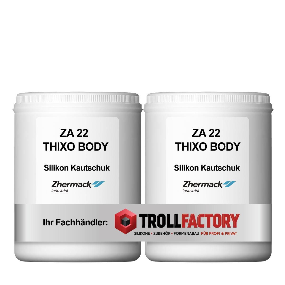 Zhermack Silikon Kautschuk ZA 22 THIXO BODY Thixotropic Haut streichfähig 2kg