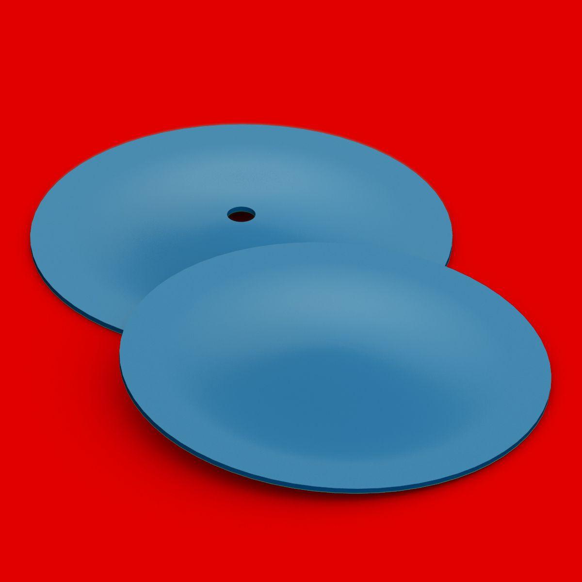 TFC Schleuderguss HTV Silikon Scheibenset HB 580C 300x15mm blau