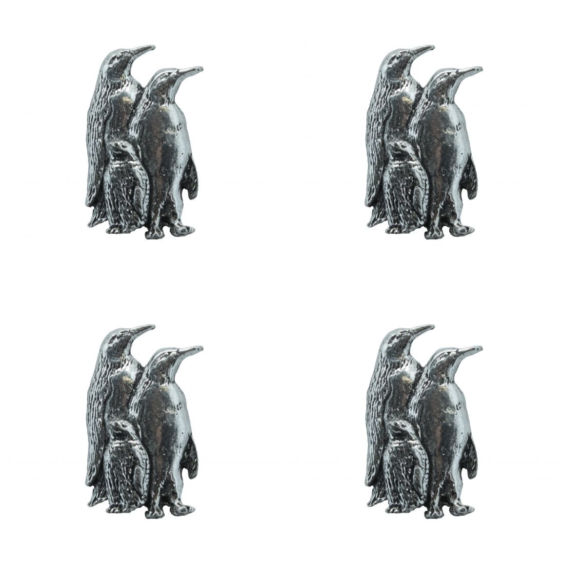 4 x Pin Anstecker Badge Pinguin, 2cm x3,3cm