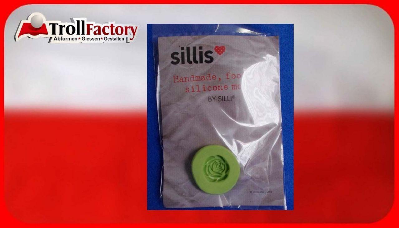 SILLI Silikonform Lebensmittel Geschnitzte Rose, ca.2,5x 2,5cm