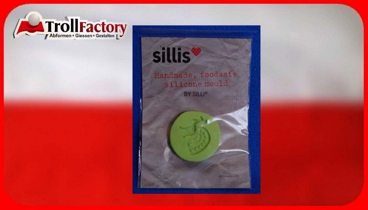 SILLI Silikonform Lebensmittel Pfau, ca. 3,2x 3,1cm