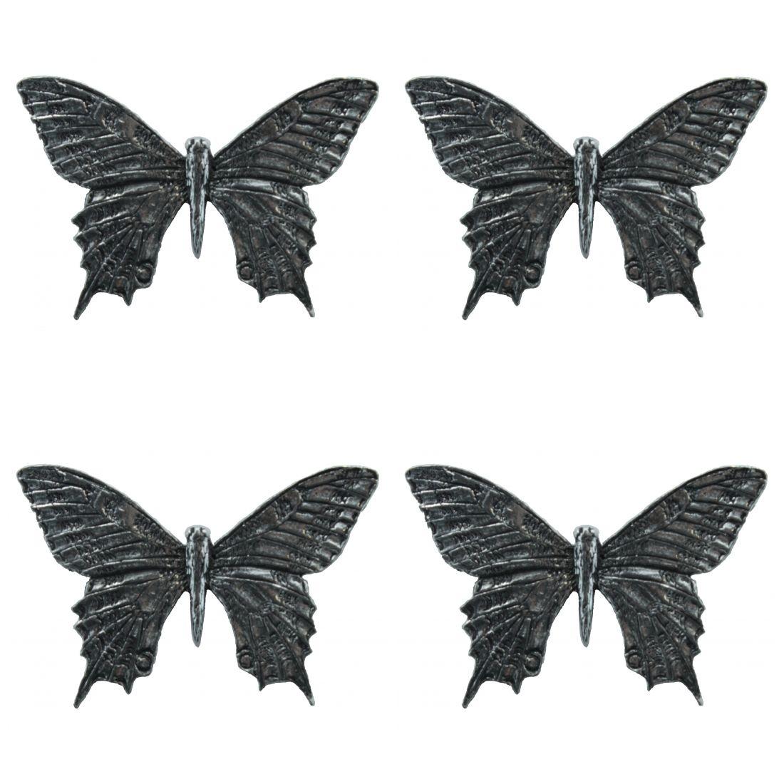 4 x Pin Anstecker Badge Schmetterling , 4,6x3cm