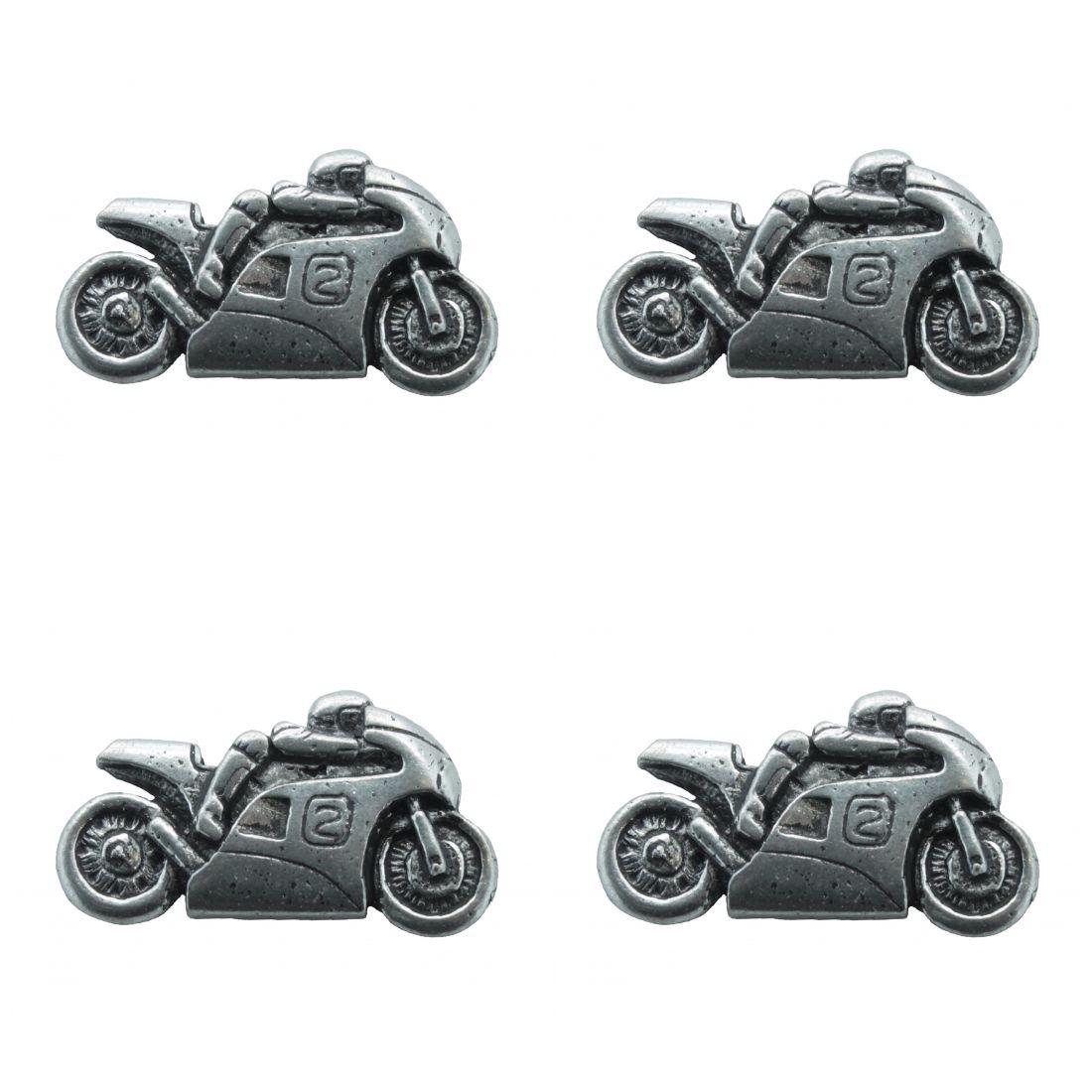 4x Pin Anstecker Badge Motorrad Biker 2, 3,1x1,7cm