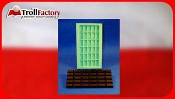 Giessform Silikonform Tafel Schokolade 30er high cube