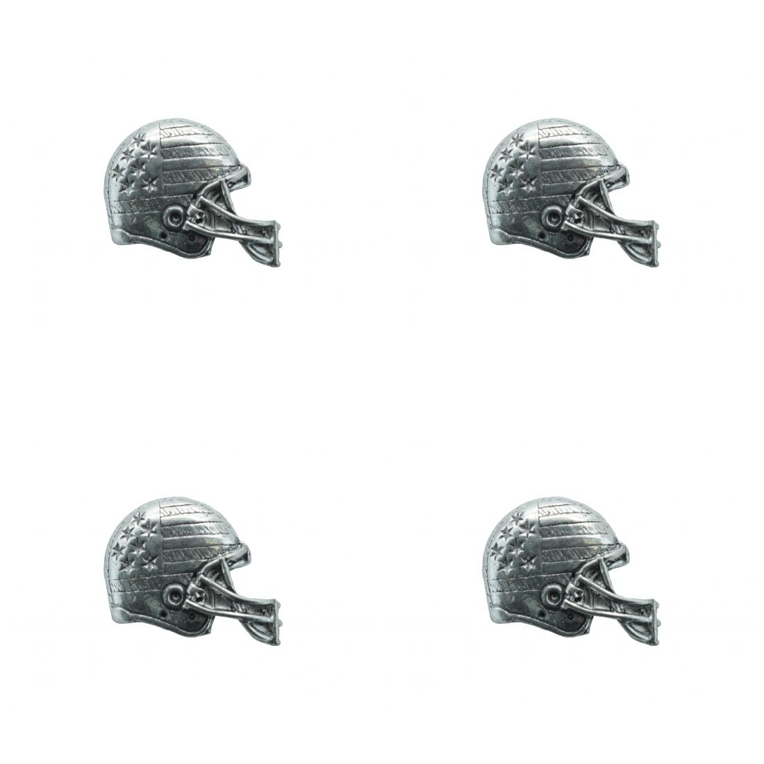 4 x Pin Anstecker Badge Football Helm, 2,7x3,1cm