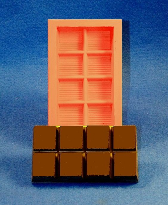 Giessform Silikonform Tafel Schokolade 8er low block SM6050