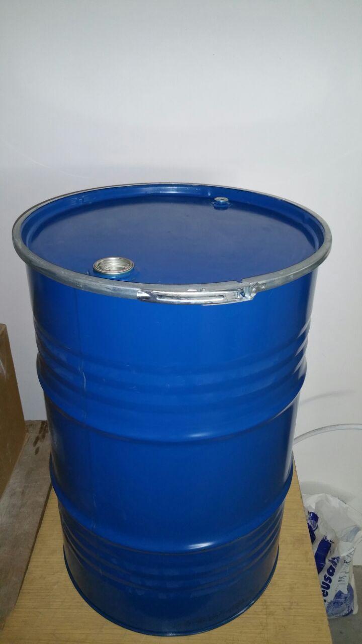 200L Liter Spunddeckel Blechfass Stahlfass Ölfass Feuertonne Faß blau leer