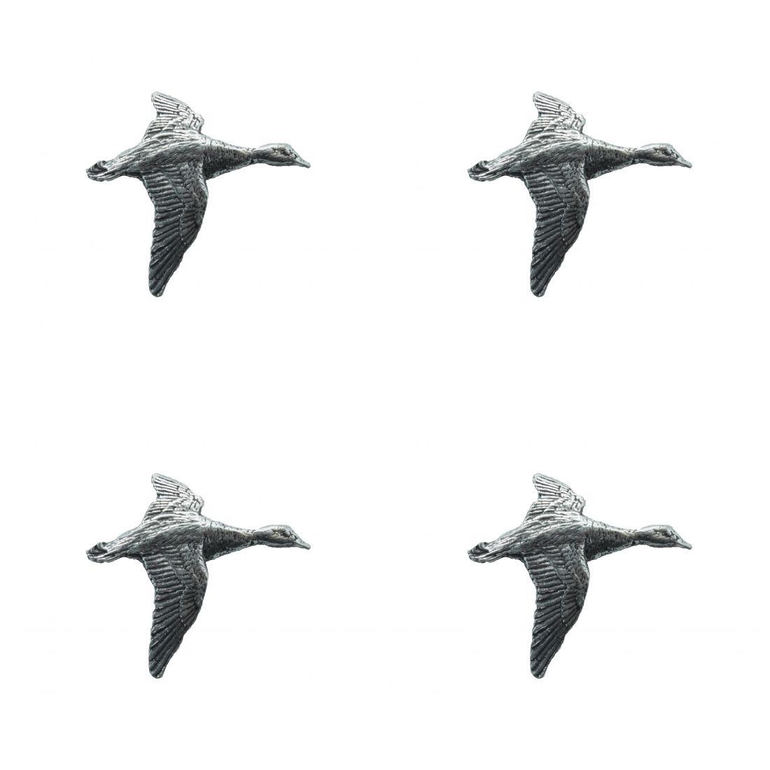 4 x Pin Anstecker Badge Ente fliegend, 2,9x2,7cm