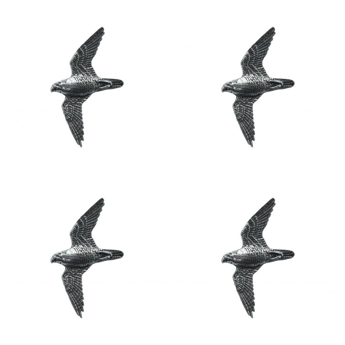 4 x Pin Anstecker Badge Wanderfalke, 3,1x3,5cm