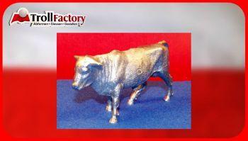 Zinngießform Bulle, ca. 330g Reinzinn