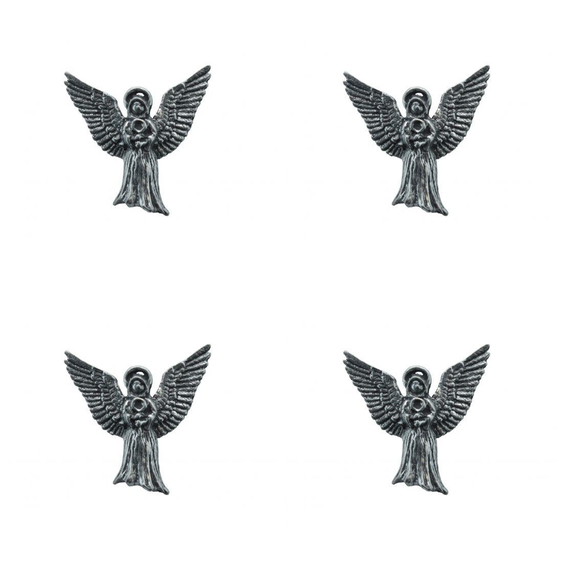 4 x Pin Anstecker Badge Engel Flügel geöffnet 2,6x2,4cm