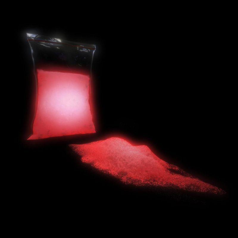 TFC Nachleuchtpigment Leuchtpulver Farbe in der Nacht rot