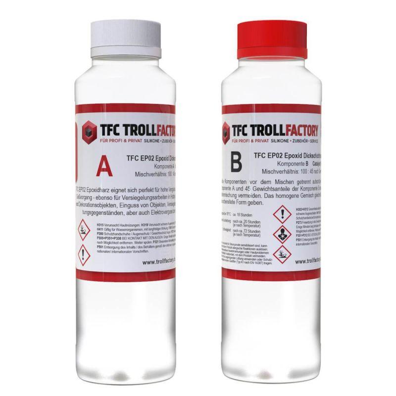 TFC EP02 Epoxy Resin Epoxid Giessharz Dickschicht bis 100mm inkl. Einweghandschuhe