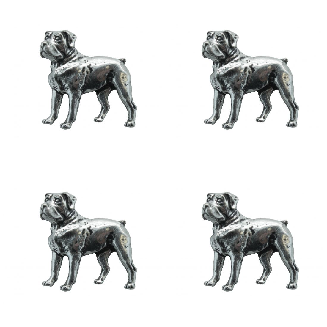 4 x Pin Anstecker Badge Rottweiler, 3x2,7cm
