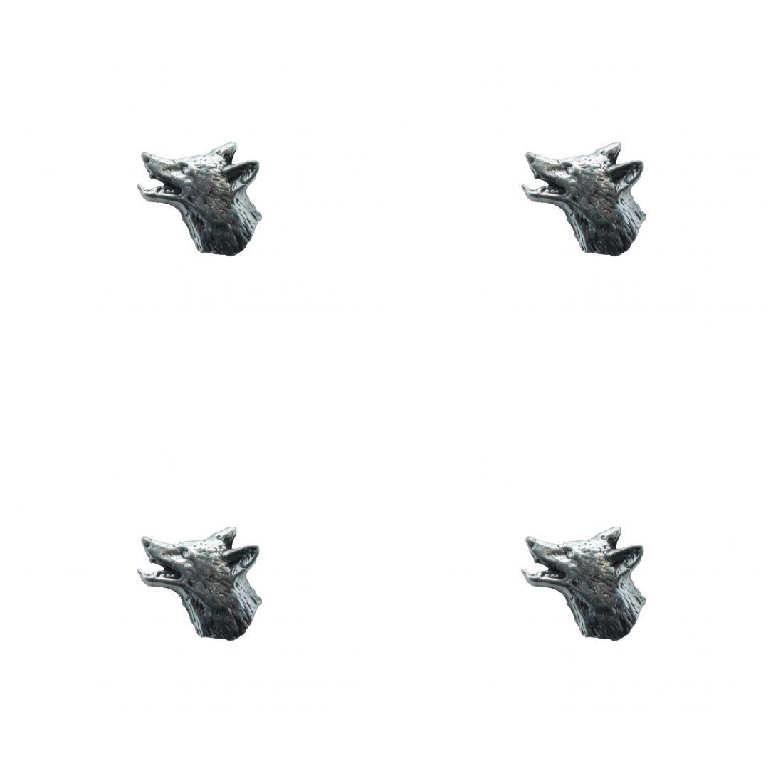 4 x Pin Anstecker Badge Kopf Fuchs klein, 1x1,3cm