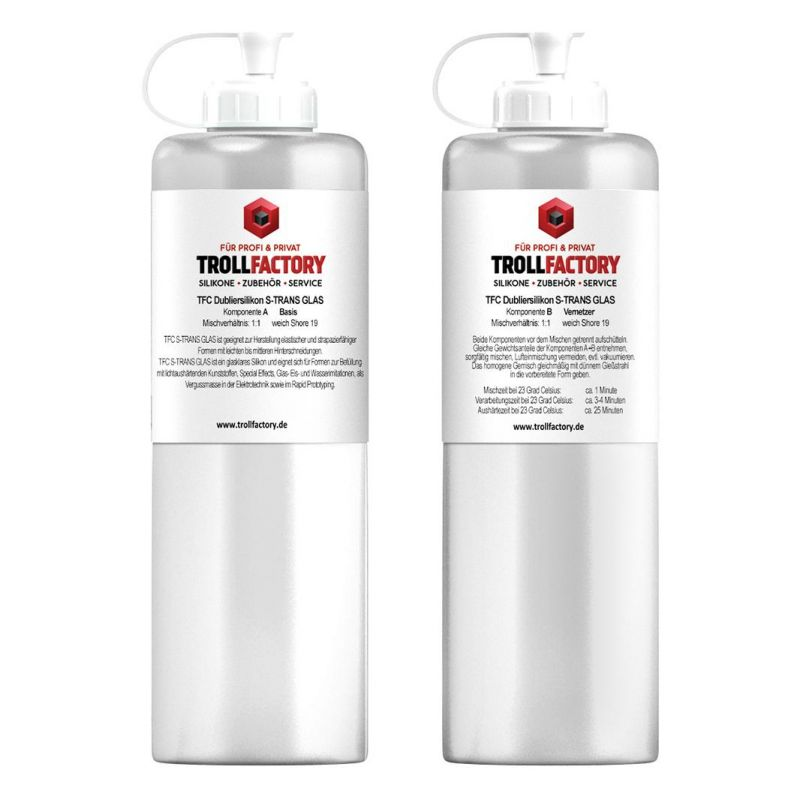 TFC Dubliersilikon S-TRANS GLASS weich Shore 20 1:1
