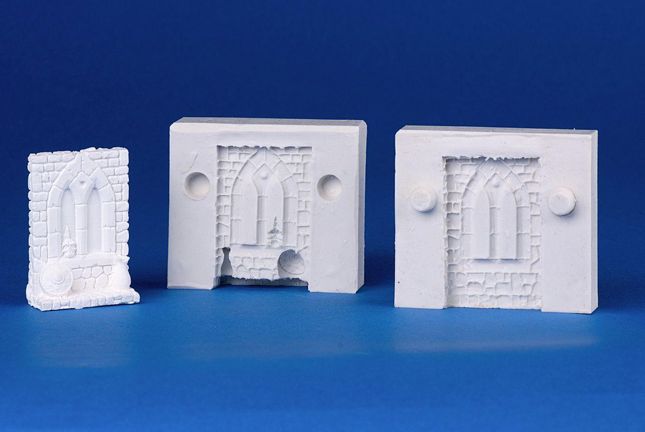 Silikonform gothisches Fenster, 30x10-20mm, H.: 55mm