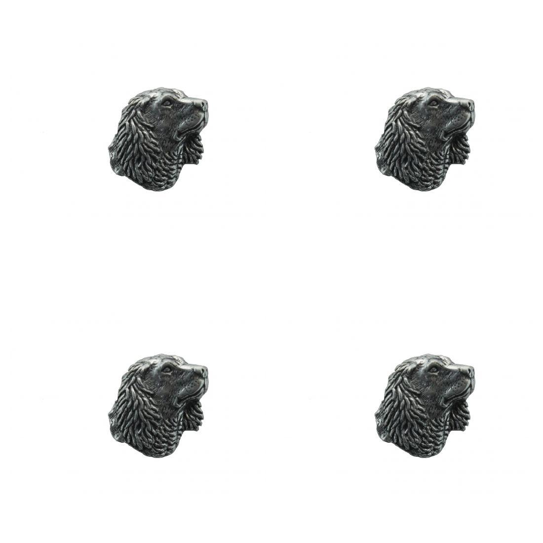 4x Pin Anstecker Badge Kopf Cockerspaniel klein, 2x1,9cm,