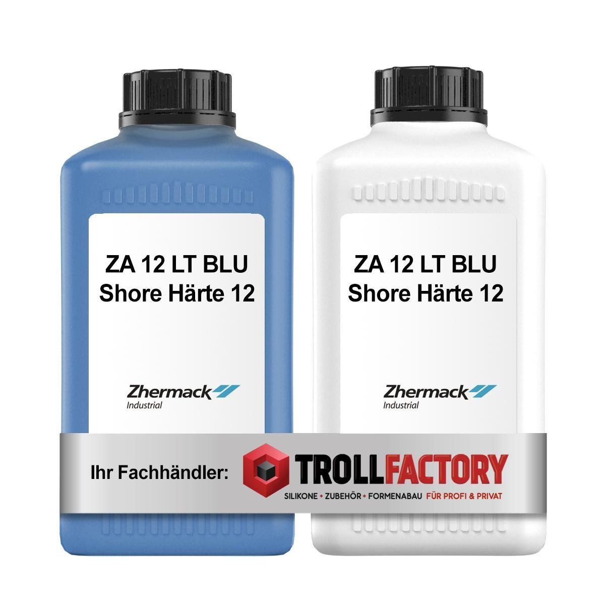 Zhermack Silikon Kautschuk ZA 12 LT BLU Shore Härte 12 - Größe: 2kg (2x1kg)