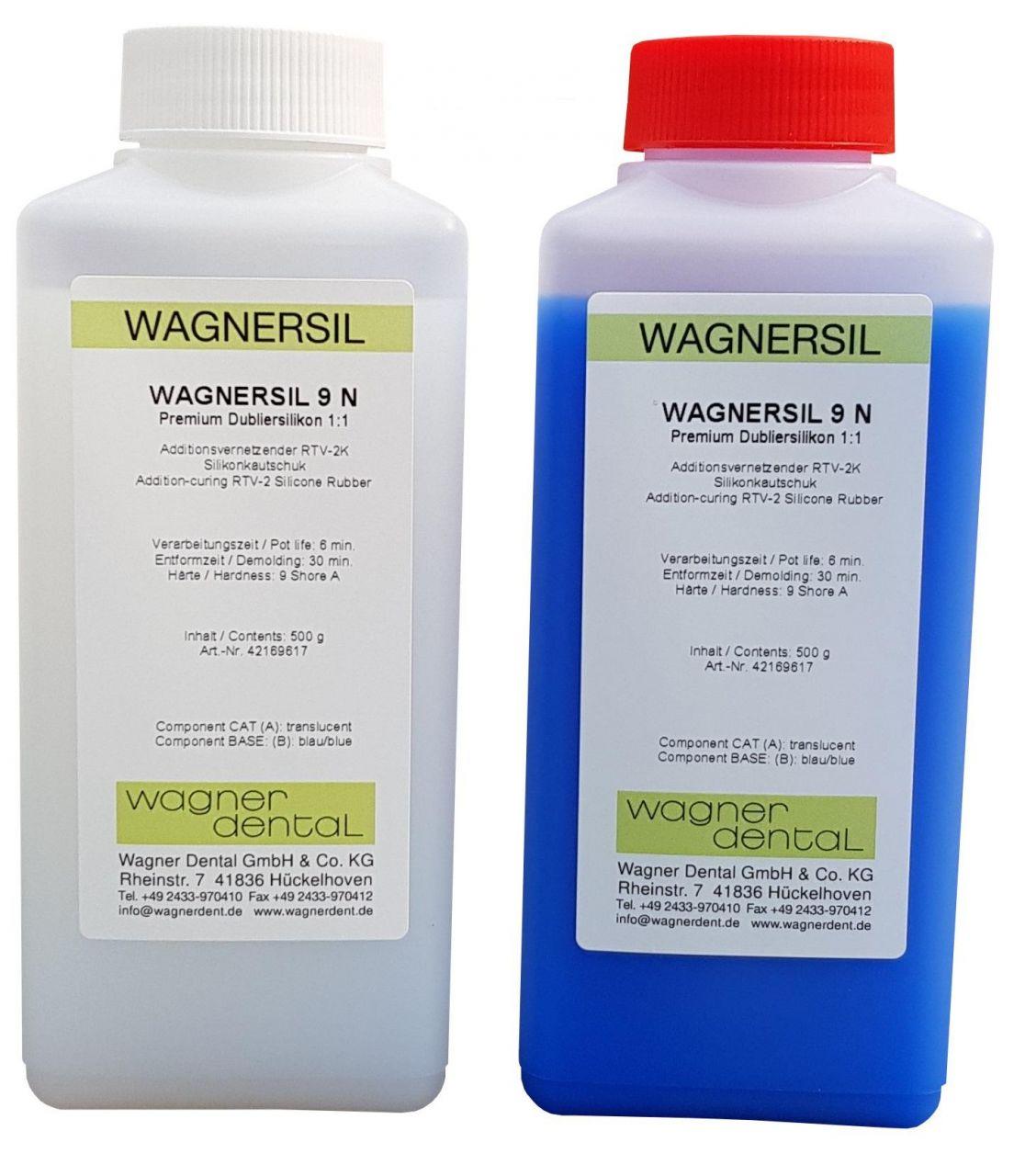 Wagnersil Premium 9 N blau Shore 9 EFZ 30 min 1:1