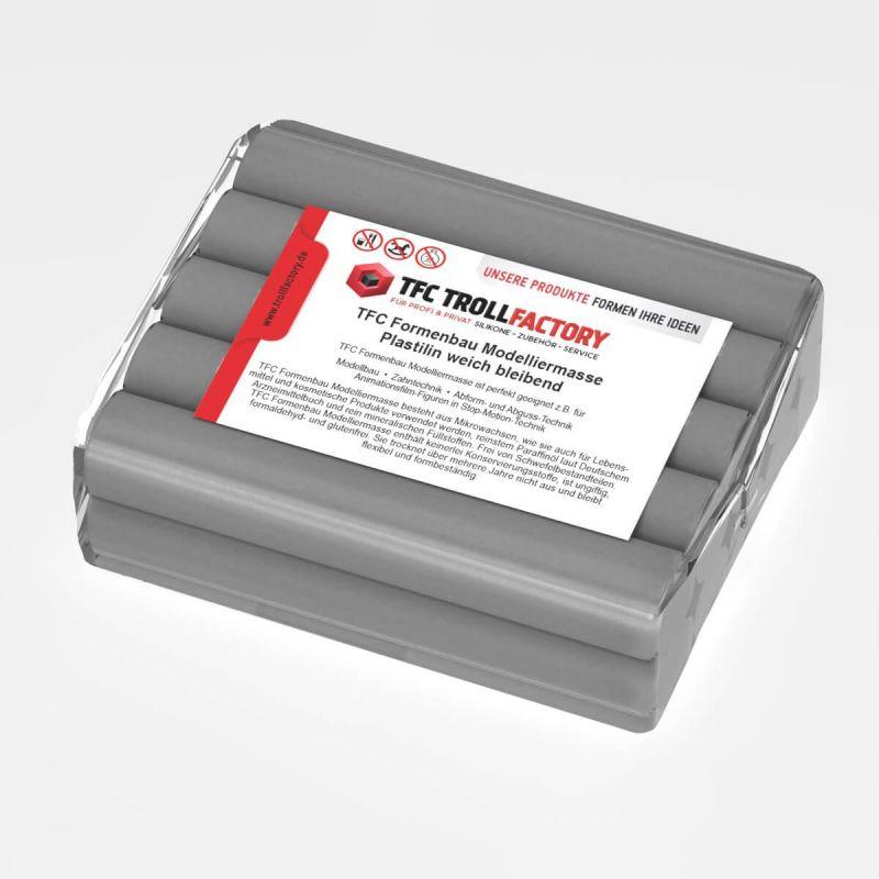 TFC Formenbau Modelliermasse grau Plastilin weich bleibend schwefelfrei