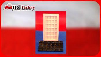 Giessform Silikonform Tafel Schokolade 24er crossline
