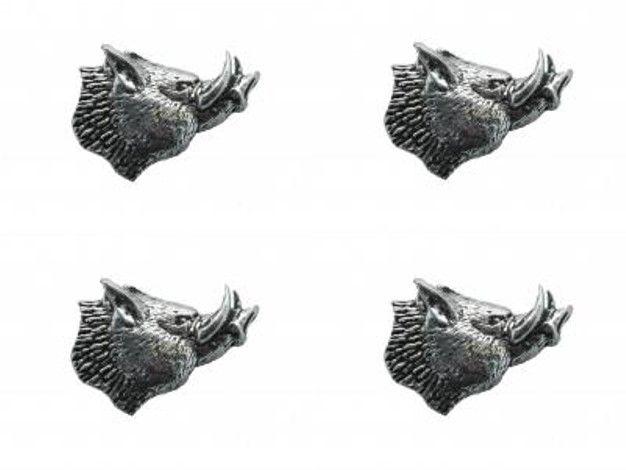 4x Pin Anstecker Badge Teufelsschwein, 2,0x3,0cm