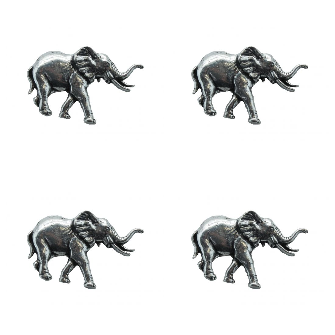 4x Pin Anstecker Badge Elefant, 2x3.5cm