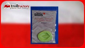 SILLI Silikonform Lebensmittel Kussmund, ca. 4,7x 3,2cm