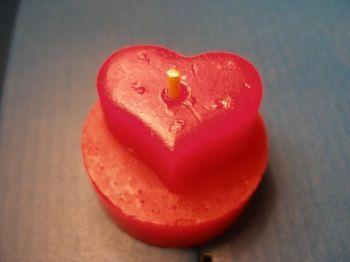 Kerzenform Giessform Teelicht Herz Heart Love
