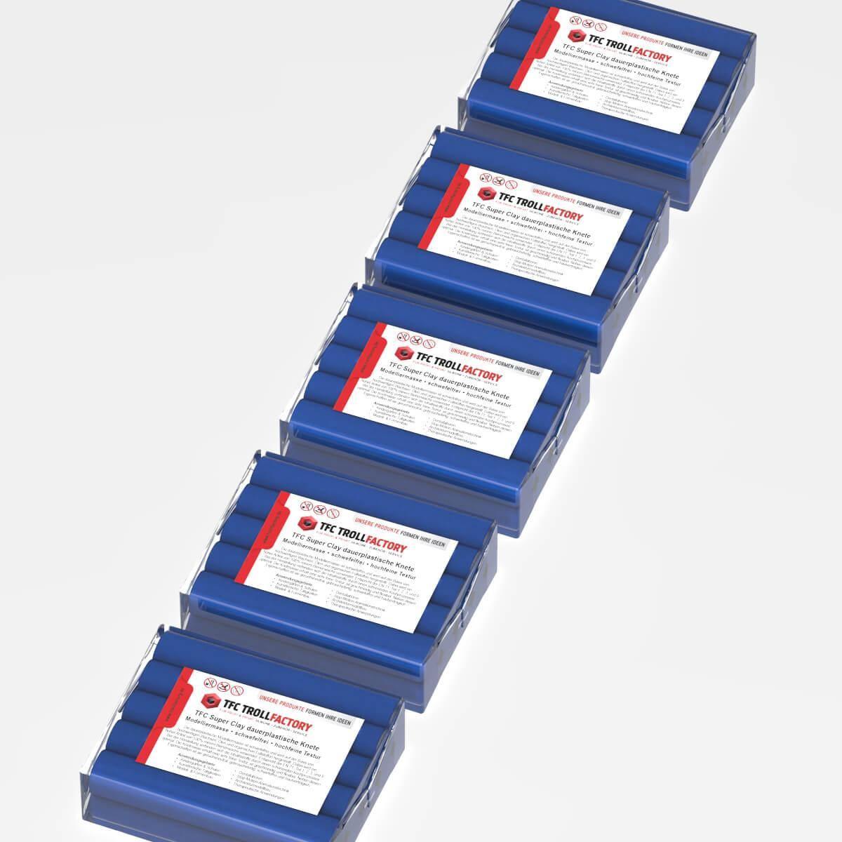 TFC SUPER CLAY Knete dunkelblau Modelliermasse hochfeine Textur geschmeidig formstabil dauerplastisc