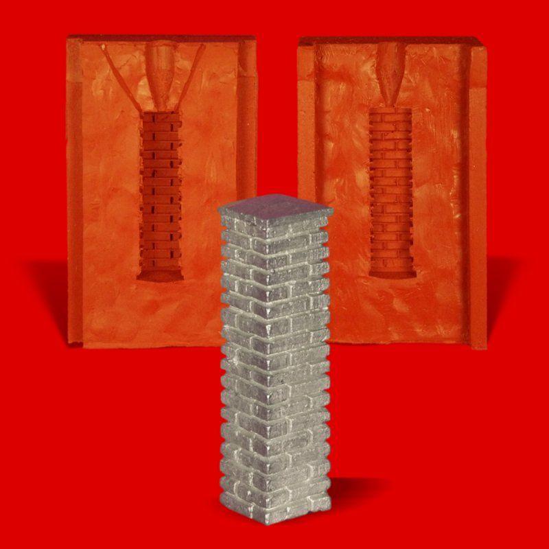 Zinngießform Säule Stehle Pfeiler, ca. 70g Reinzinn