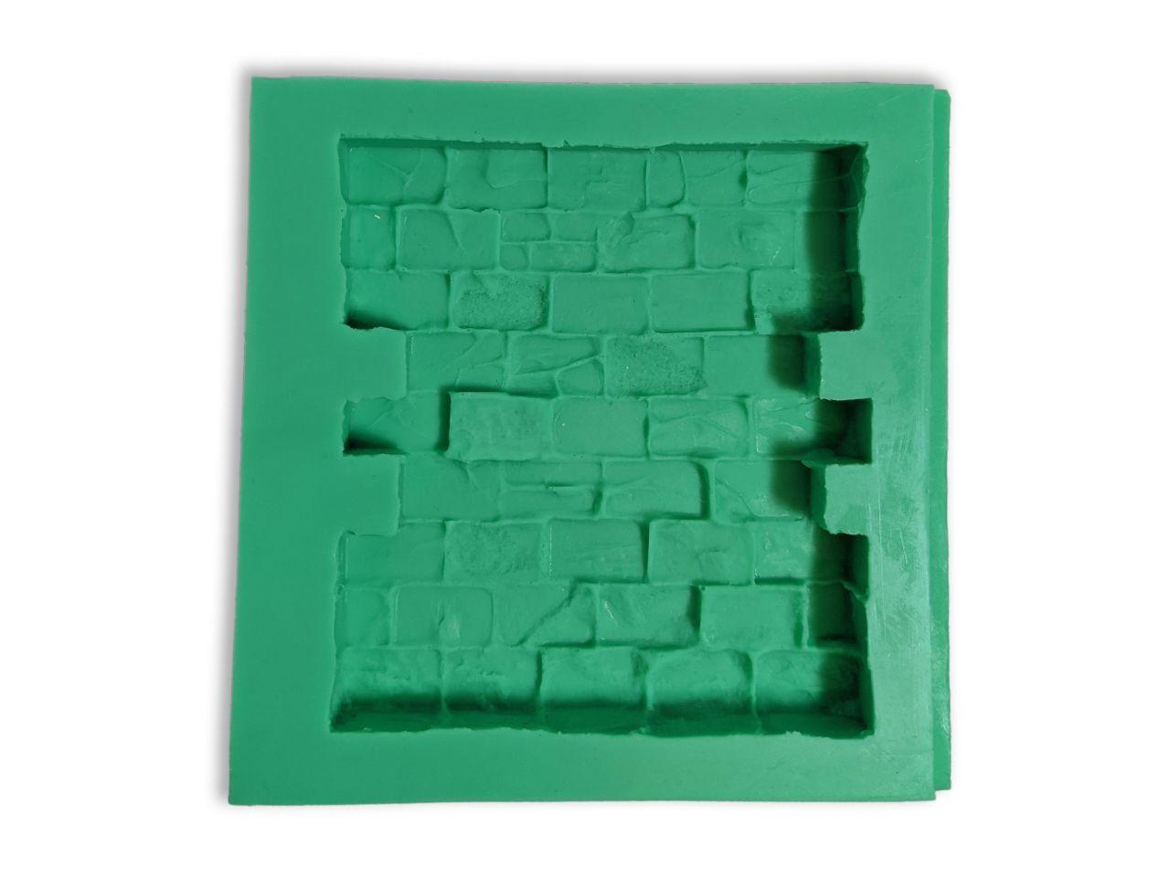 Giessform Silikonform Mauer Modul Wand Krippenbausteine Set 11