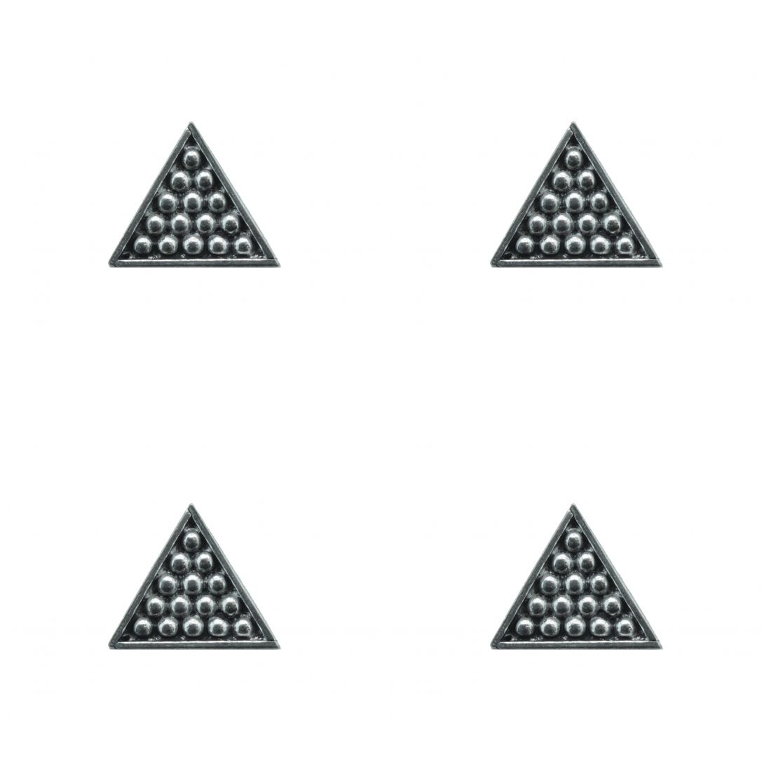 4 x Pin Anstecker Badge Snooker Triangle, 2,1x2,1cm