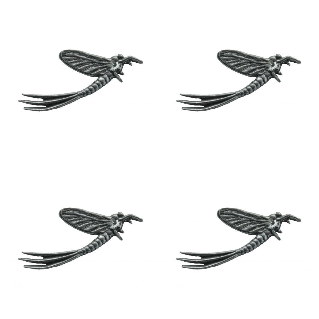 4 x Pin Anstecker Badge Künstliche Fliege, 4,2x2,2cm