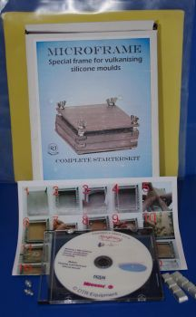 Alu Microframe 16x8cm set,Formenrahmen Starterkit für HTV Silikon