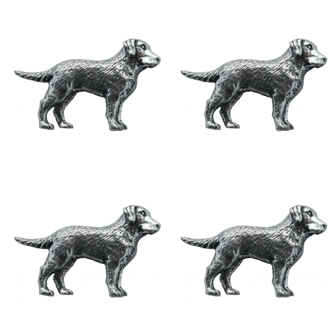 4 x Pin Anstecker Badge Labrador, 4,3x2,5cm