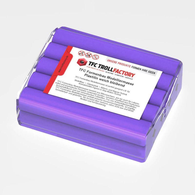 TFC Formenbau Modelliermasse violett Plastilin weich bleibend schwefelfrei