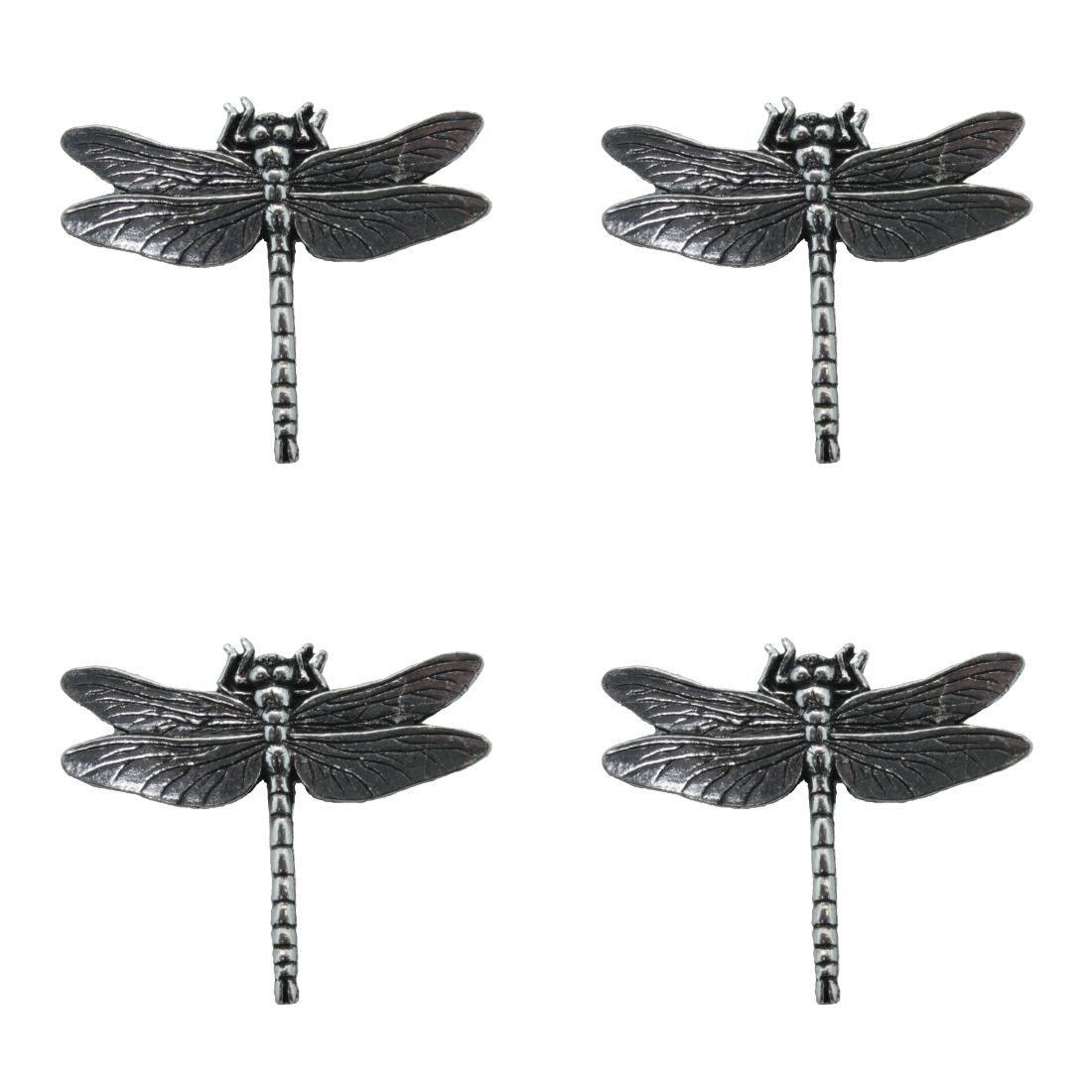 4 x Pin Anstecker Badge Libelle, 4,2x3,6cm