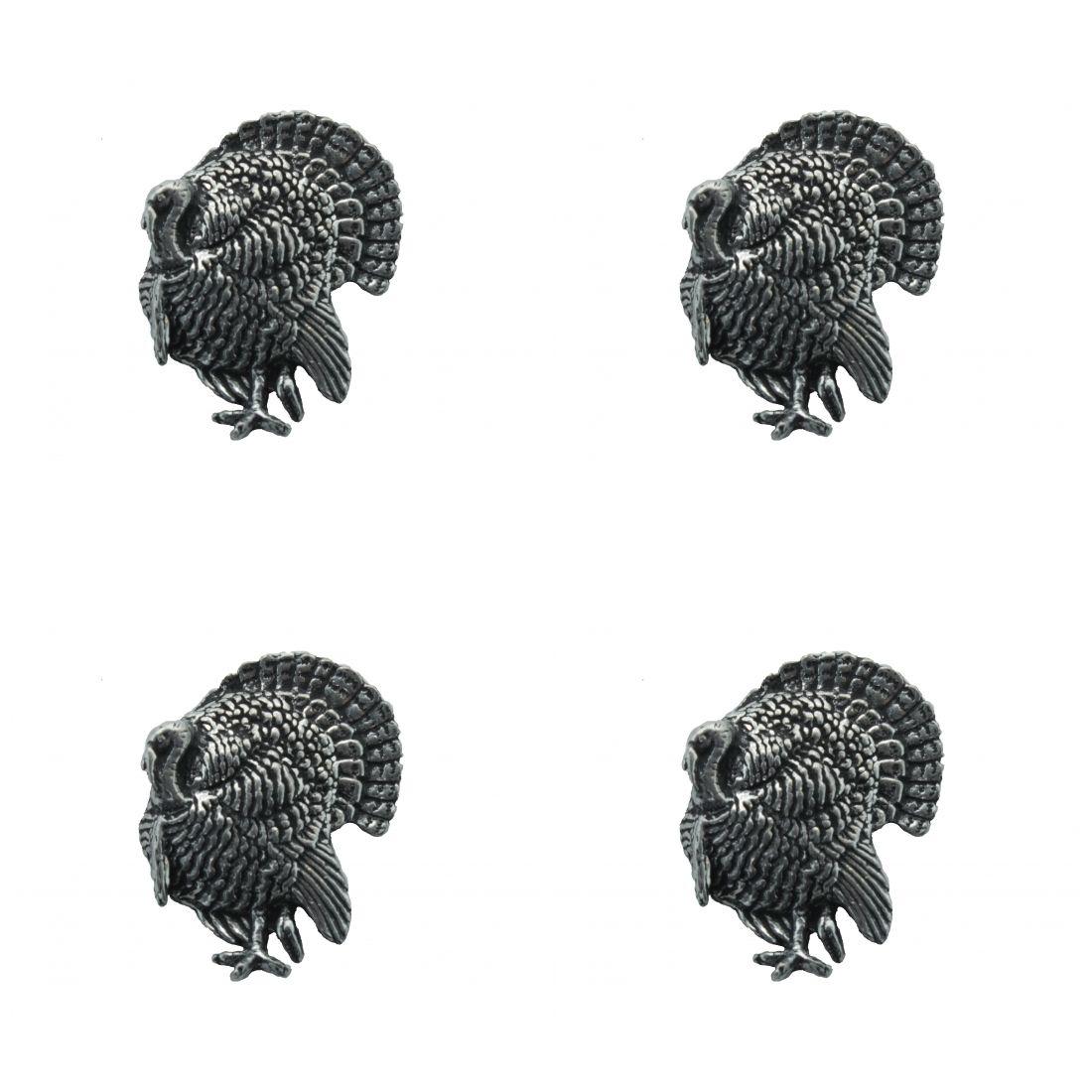 4 x Pin Anstecker Badge Pute, 2,5x2,7cm